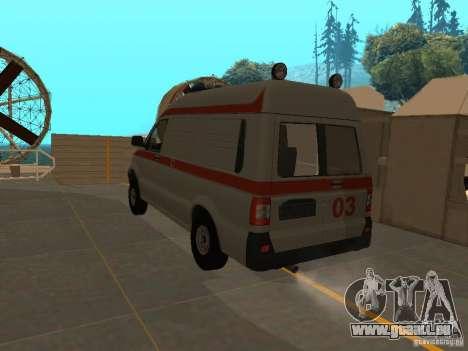 UAZ Simba SC ambulance pour GTA San Andreas laissé vue