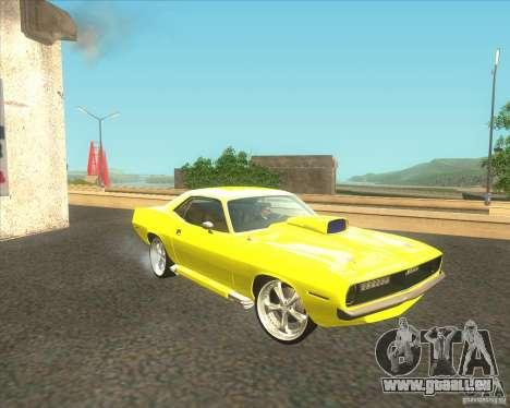 Plymouth Barracuda pour GTA San Andreas vue intérieure