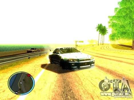 Nissan Skyline B324R pour GTA San Andreas laissé vue