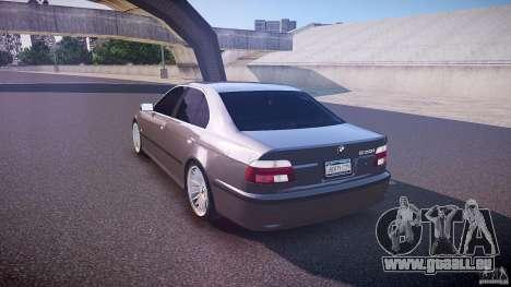 BMW 530I E39 stock white wheels pour GTA 4 Vue arrière de la gauche