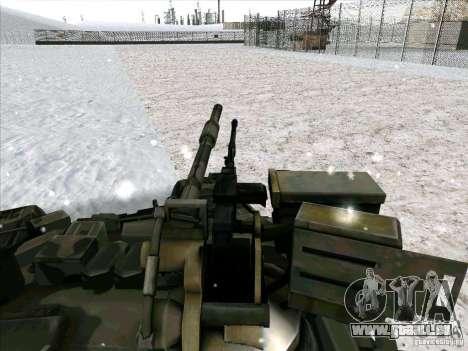 T-90 von Battlefield 3 für GTA San Andreas Rückansicht