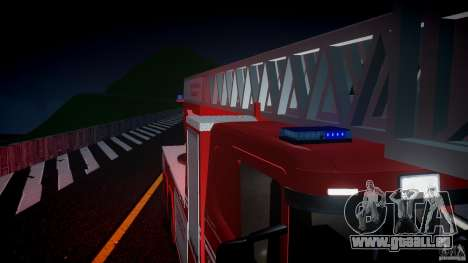 Scania Fire Ladder v1.1 Emerglights blue [ELS] für GTA 4 obere Ansicht