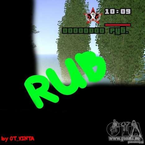 Inscription-rub-à la place de l'icône $ pour GTA San Andreas