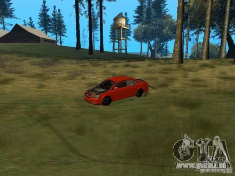 Toyota Avensis TRD Tuning pour GTA San Andreas vue intérieure