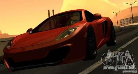 McLaren MP4-12C TT Black Revel pour GTA San Andreas vue de dessus