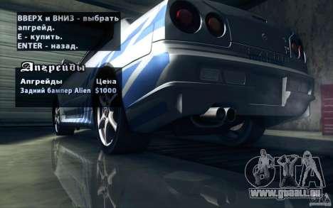 Nissan Skyline GTR R34 VSpecII pour GTA San Andreas moteur