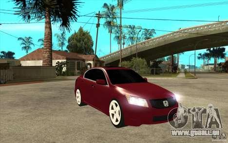 Honda Accord 2008 v2 pour GTA San Andreas vue arrière