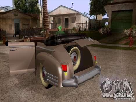 Phaeton ZiS-110 b pour GTA San Andreas vue intérieure