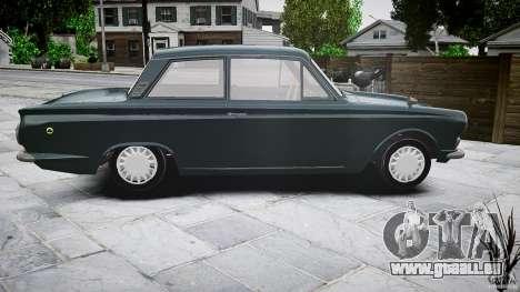 Lotus Cortina S 1963 pour GTA 4 vue de dessus