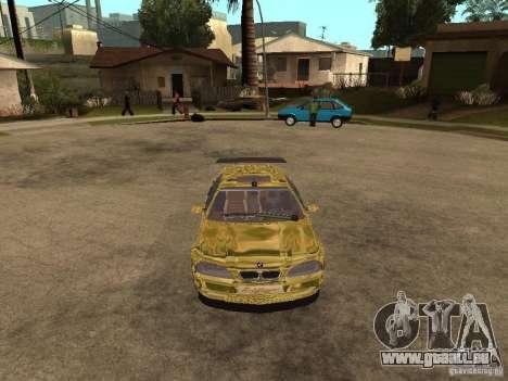 BMW M3 Goldfinger pour GTA San Andreas vue de droite
