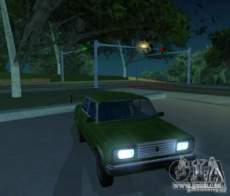 VAZ 2107 ermöglicht für GTA San Andreas linke Ansicht