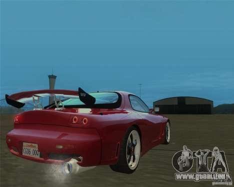 Mazda RX-7 weapon war pour GTA San Andreas laissé vue