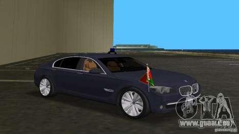 BMW 750 Li für GTA Vice City Innenansicht