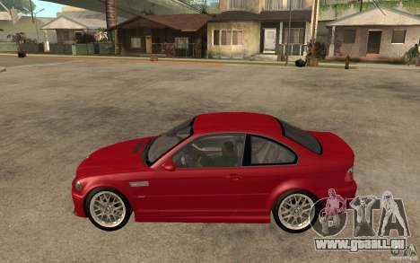 BMW M3 CSL pour GTA San Andreas laissé vue