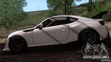 Scion FR-S 2013 pour GTA San Andreas sur la vue arrière gauche