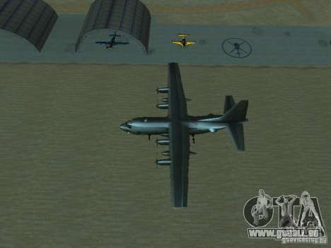 AC-130 Spooky II pour GTA San Andreas vue de dessus
