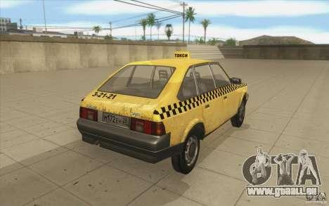 2141 Moskvitch AZLK Taxi v2 pour GTA San Andreas vue de côté