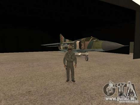 Mikojan-Gurewitsch Mig-23 für GTA San Andreas Innenansicht