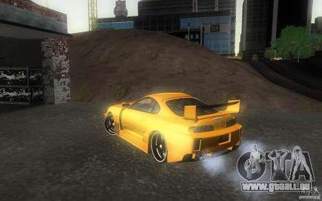 Toyota Supra Chargespeed pour GTA San Andreas laissé vue