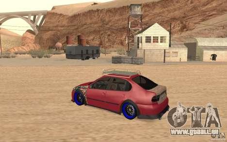 Seat Toledo 1999 Tuned für GTA San Andreas zurück linke Ansicht
