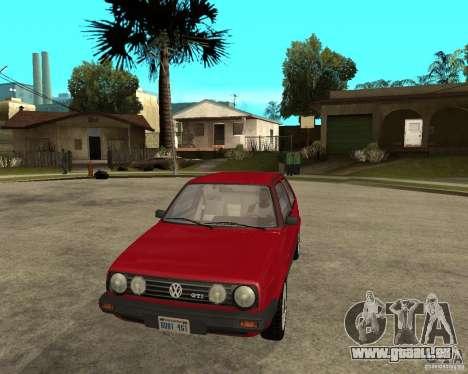 Volkswagen Golf Mk.II pour GTA San Andreas vue arrière