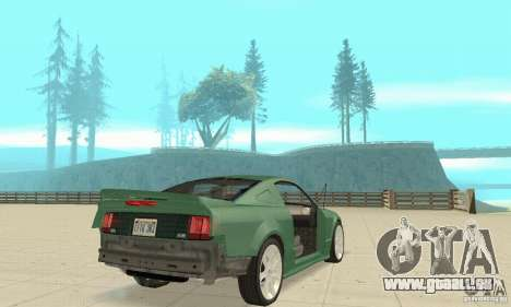 Saleen S281 v2 pour GTA San Andreas vue de dessous