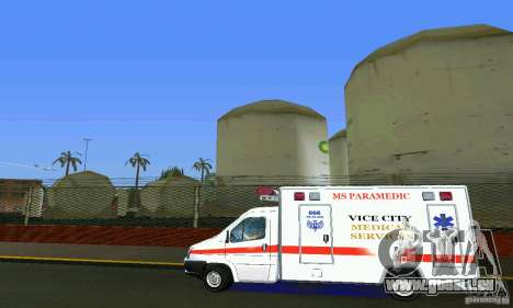 RTW Ambulance für GTA Vice City linke Ansicht