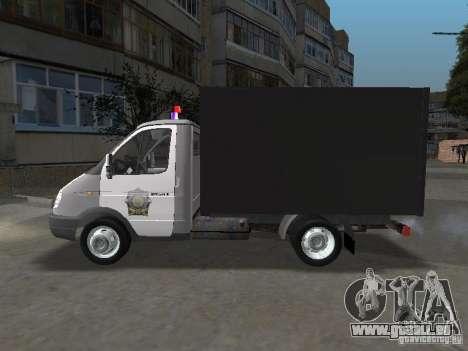 GAZ 3302 Polizei für GTA San Andreas linke Ansicht