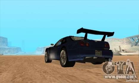 Nissan Skyline R34 GT-R LM für GTA San Andreas Innenansicht