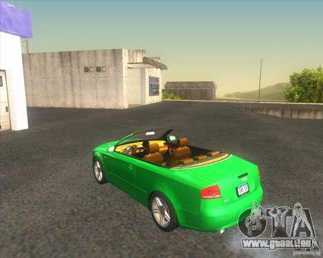 Audi A4 Convertible 2005 pour GTA San Andreas sur la vue arrière gauche