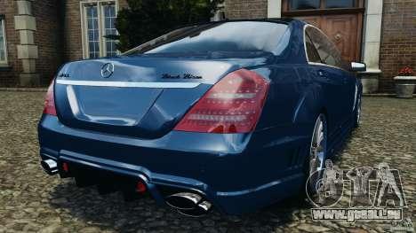 Mercedes-Benz S W221 Wald Black Bison Edition pour GTA 4 Vue arrière de la gauche