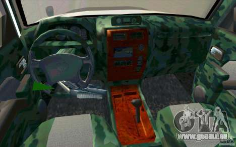 Toyota Land Cruiser Prado für GTA San Andreas Unteransicht