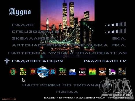Nouveau menu dans le style de New York pour GTA San Andreas quatrième écran