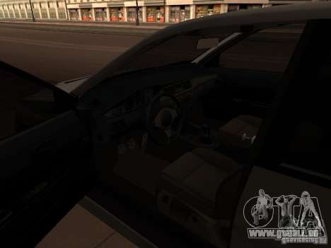 Mitsubishi Lancer Evolution 8 für GTA San Andreas zurück linke Ansicht