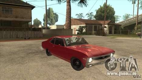 Chevrolet Nova SS pour GTA San Andreas vue arrière