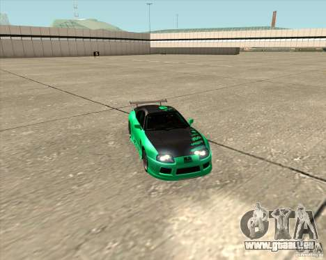 Toyota Supra ZIP style pour GTA San Andreas vue de dessus