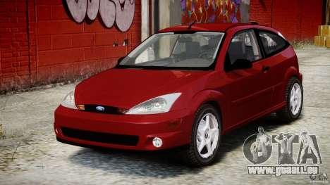 Ford Focus SVT pour GTA 4 Vue arrière