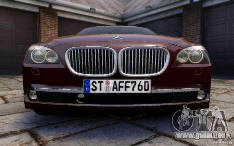 BMW 760Li 2011 pour GTA 4 vue de dessus