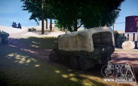 Camion militaire de Mafia II pour GTA 4 est une gauche