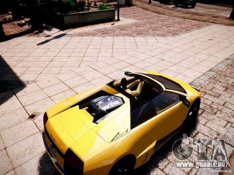 Lamborghini Murcielago LP650-4 Roadster pour GTA 4 est un droit