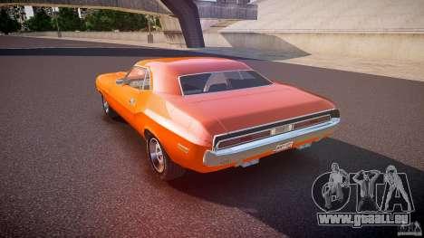 Dodge Challenger v1.0 1970 pour GTA 4 Vue arrière de la gauche