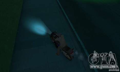 Lampes de couleur néon pour GTA San Andreas troisième écran