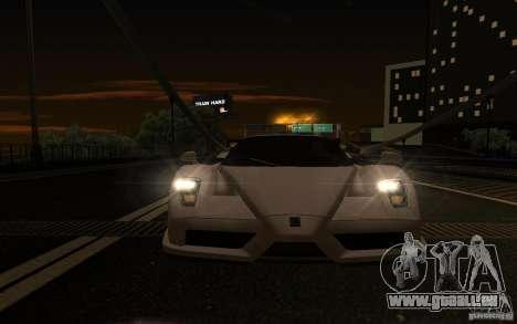 Ferrari Enzo ImVehFt pour GTA San Andreas vue intérieure