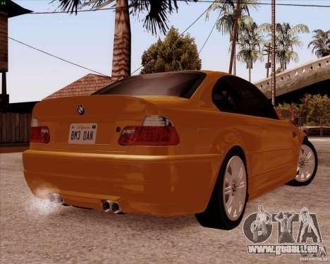 BMW M3 E46 stock pour GTA San Andreas vue de côté