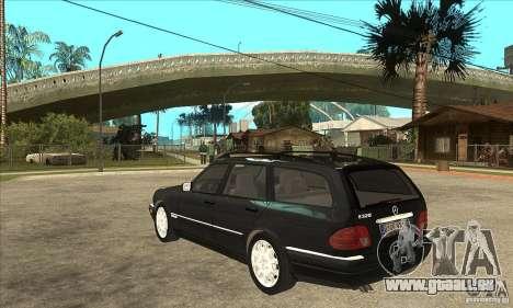 Mercedes-Benz W210 E320 1997 pour GTA San Andreas sur la vue arrière gauche