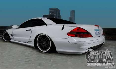 Mercedes Benz SL 65 AMG pour GTA San Andreas laissé vue
