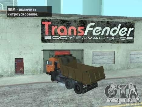 KAMAZ 65115 pour GTA San Andreas laissé vue