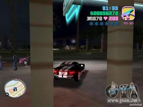 Dodge Viper Hennessy 800 pour une vue GTA Vice City de la droite