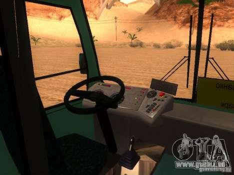RAINURE 3203 pour GTA San Andreas vue intérieure