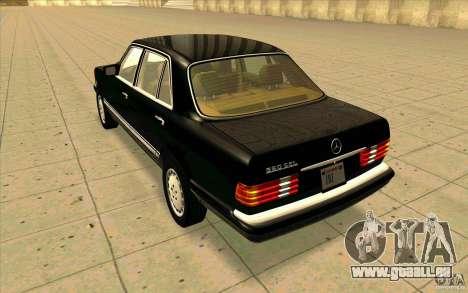 Mercedes Benz 560SEL w126 1990 v1.0 für GTA San Andreas zurück linke Ansicht